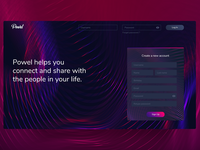 Powel Social Media Landing Page