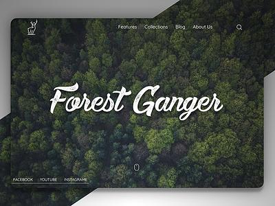 Forest Ganger - Landing Page web jungle tree green ux ui design forest page landing website