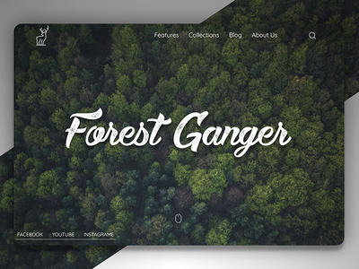 Forest Ganger - Landing Page web jungle tree green ux ui design forest page landing website