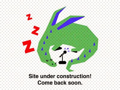 Under Construction! character design drawing vectorart vector illustration web dragon