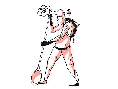 Character Sketch - Warrior oc character character design design cintiq digital drawing
