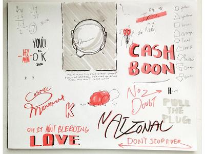 Exhibition Procrastination Page #1 color love grid grids typography type