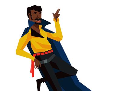 Donald Glover in Solo kylo ren poe finn rey vice admiral holdo amilyn holdo illustrator vector art art the last jedi solo star wars