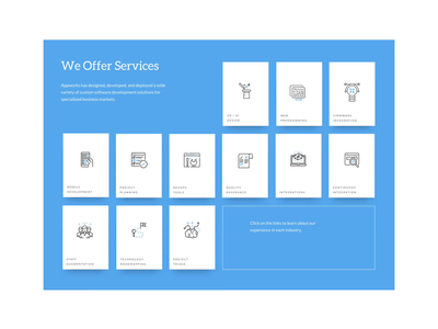 Services Block animation after effects animation design icon animation sketch app adobe after effects interaction animation interaction design services web design