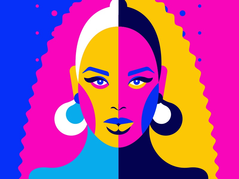 Beyonce illustrations fluor queen music pop illustrator colorful vector illustration beyonce