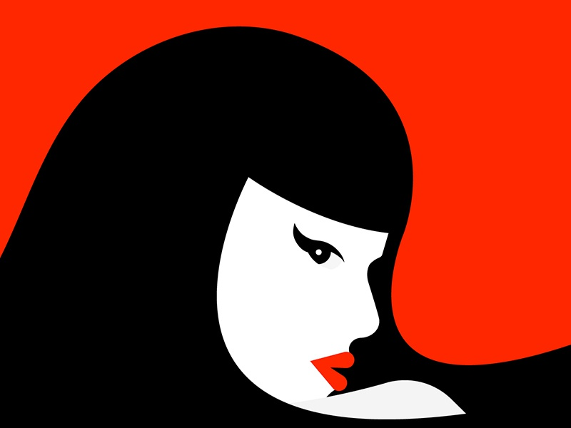 Her japanese red woman illustration woman vector japan