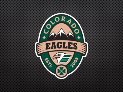 Colorado Eagles Pot Of Gold Logo sports design st patricks day sports logos ice hockey logo design eagle colorado fundraiser nhl hockey logo