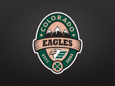 Colorado Eagles Pot Of Gold Logo sports design st patricks day sports logos ice hockey logo design eagle colorado fundraiser nhl hockey logo