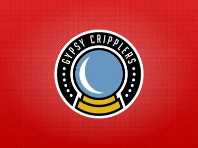 Gypsy Cripplers Secondary Logo sports design sports logos ice hockey logo design character design sports nhl hockey logo