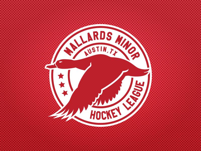 Mallards Minor Hockey League Logo sports design sports logos ice hockey logo design atx texas nhl hockey logo