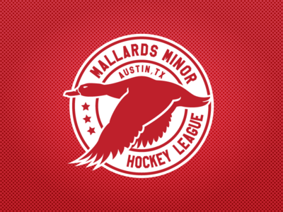 Mallards Minor Hockey League Logo sports design sports logos ice hockey logo design atx texas nhl hockey logo