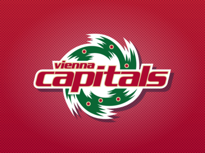 Vienna Capitals Christmas Logo logo design logo austria europe nhl diabetes fundraiser christmas hockey