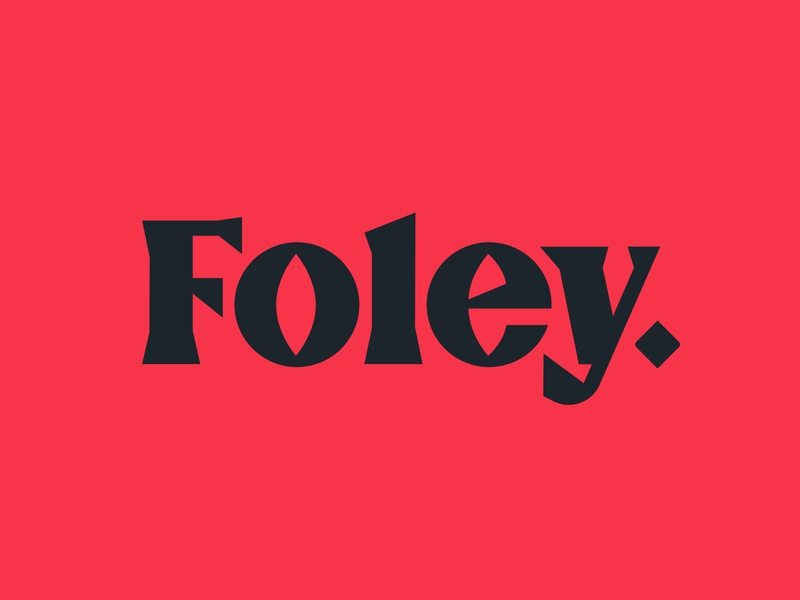 Foley Logotype lettering serif y e l o sharp geometric custom typogaphy wordmark logotype logo