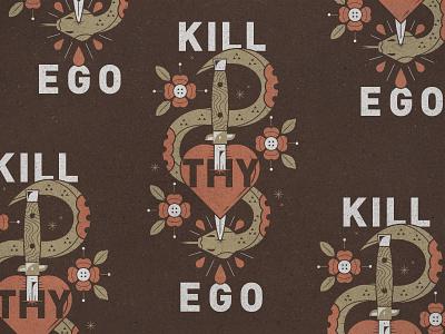 Kill Thy Ego textures drop droplet blood sin snake flowers sword knife heart ego kill