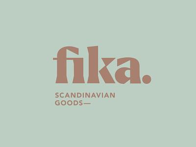 Fika Logo ligatures modern geometric display font serif wordmark goods fika scandinavian typogaphy logo