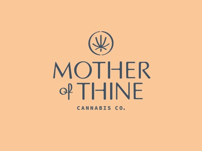 Mother of Thine Cannabis packaging weed stencil symbol icon script lockup typography flower identity cannabis branding logo