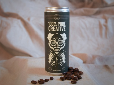 Self-promo Leave Behind leave behind self promo beverage drink coffee shop beans cold brew package design genius creative lighting mad scientist can illustration coffee