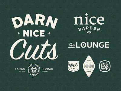 Nice Barber Company haircut symbol monogram stamp minnesota north dakota crest logo vintage star icon badge midwest lockup