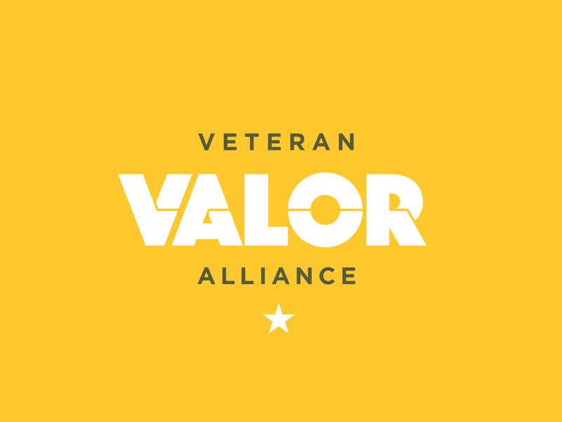 Valor lock up logo star type mission veteran vet alliance dog tags military army
