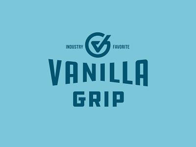 Vanilla Grip lock up type flat  design industry favorite check mark v g icon vanilla logo