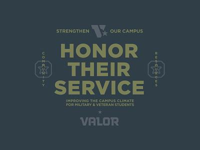 Valor Collateral lockup community badge branding honor resource v valor veteran star army military service tough logo