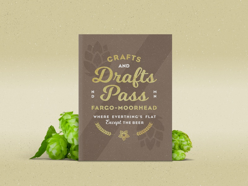 Crafts & Drafts Pass minnesota north dakota star type gold foil packaging texture lockup brochure design booklet craft badge crest hops beer branding beer