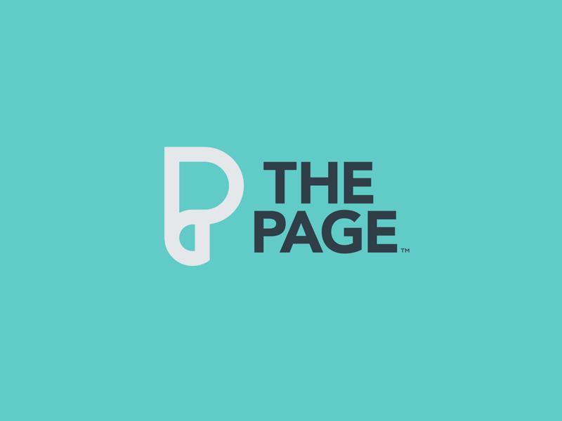 The Page mark symbol mono line thick line identity design icon paper curl page p logo