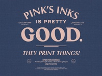 Pinks Inks Shop Shirt