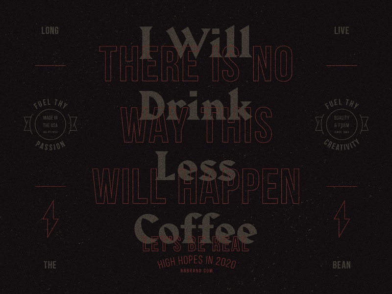 Fuel Thy Creativity dribbbleweeklywarmup fuel coffee bean type badge pattern branding blackletter 2020 coffee lockup typogaphy