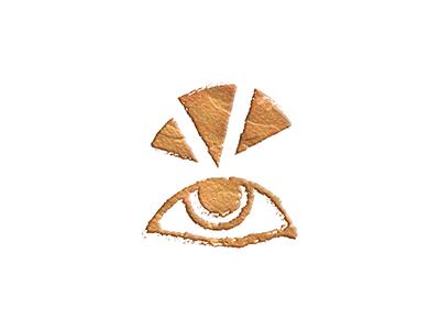 Portfolio Eye-con punny portfolio eye gold icon design