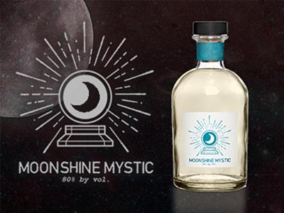 Moonshine Mystic Logo mockup vintage startup homemade liquor alcohol logo