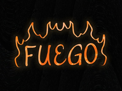 Fuego Hand Lettering joulles heat prism lit lighter smoke firefighter burn punk skater thrasher fire