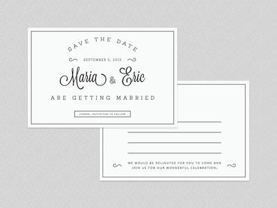Save The Date Postcard save the date postcard print wedding invitation type