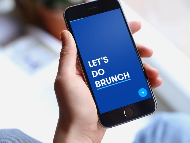 Let's Do Brunch - App Prototype animated interactions design ux design ios design mobile design calendar event bot meeting prototype mobile ios