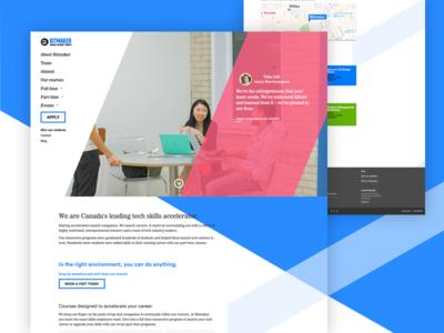 Bitmaker Labs - Landing page landingpage marketing jobs career learning education website webdesign layout