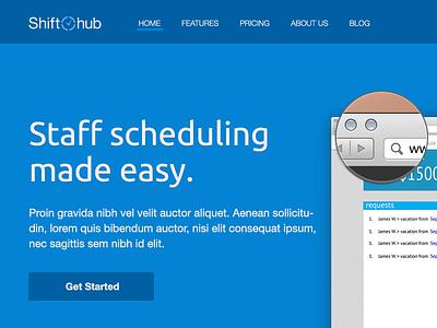 Landing Page - Redesign html design landing page navigation flat marketing blue clean web