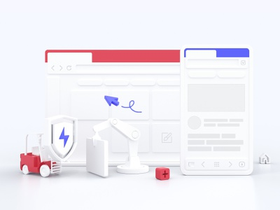 Vivaldi 3.0 redshift3d redshift c4d dark ui branding illustration cinema4d browser 3d vivaldi