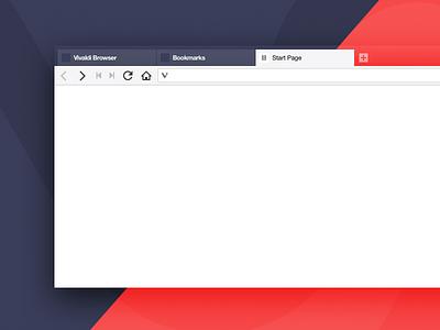 Vivaldi Sketch desktop web webbrowser ui browser vivaldi
