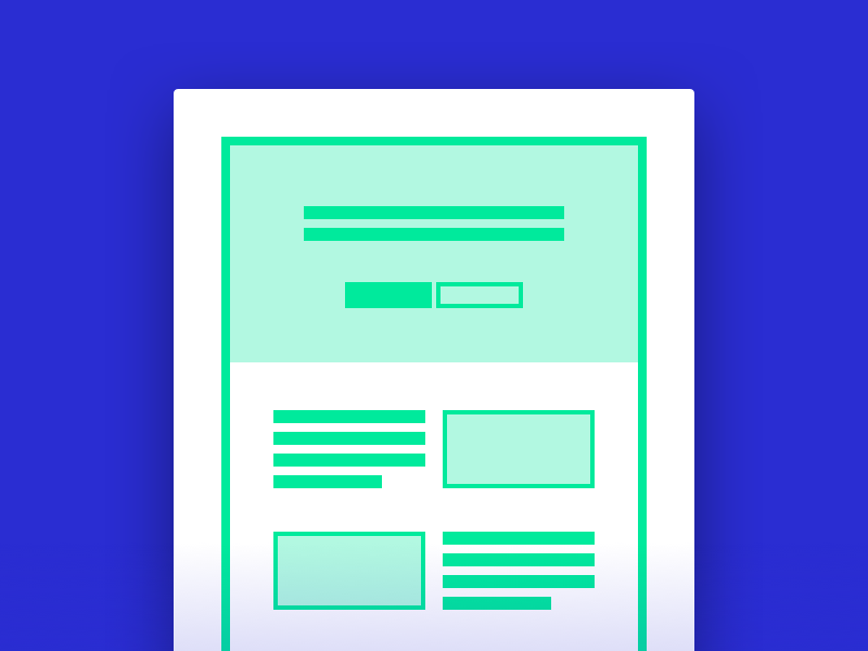Preview form purple green outline thumbnail template