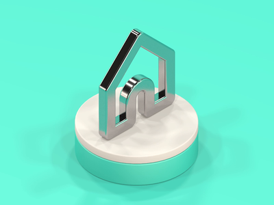 Home is where the icon is vivaldi icon shiny loop animated 3d cinema 4d