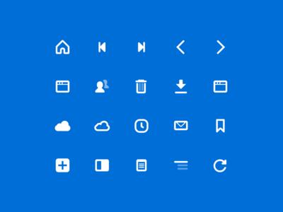 UI icons for Vivaldi Browser icon set vivaldi glyph glyphs icon ui icons