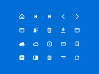 UI icons for Vivaldi Browser icon set vivaldi glyph glyphs icon ui icons