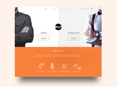E-commerce website for Professionals concept e-commerce ux ui landingpage professionals website