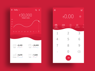 POS Mobile App minimal dark theme dashboard transactions mobile app ux ui point of sale