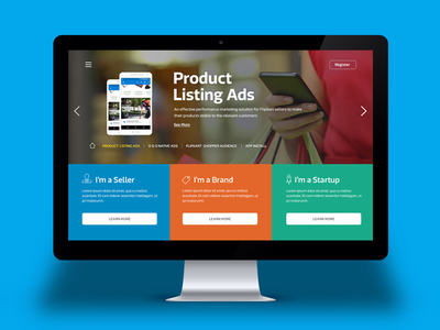 Seller Landing Page website landing page concept ux ui seller shopping e-commerce