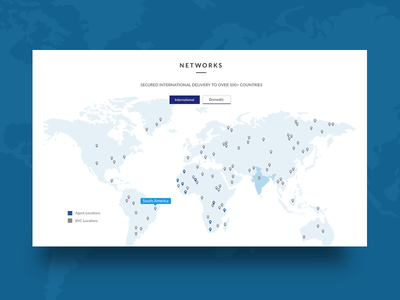 Map for Logistics Website visual design minimal logistics website map