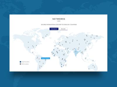 Map for Logistics Website