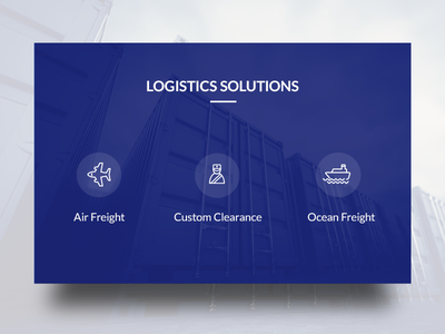 Widget Design website ux ui logistics widget