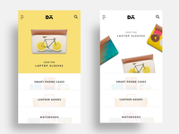 Ecommerce Landing screens