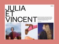 Julia Et Vincent, Page transitions